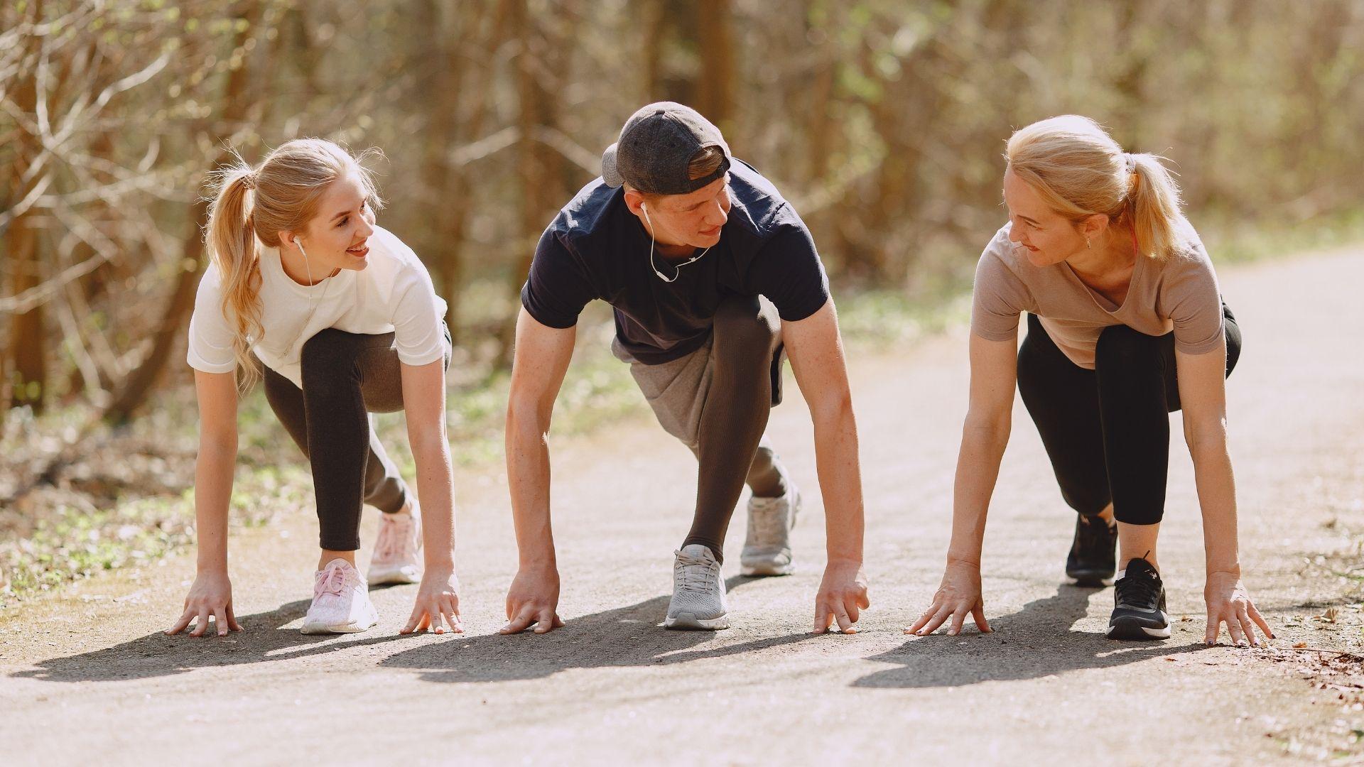 Joggen anfangen mit Freunden oder Laufgruppe