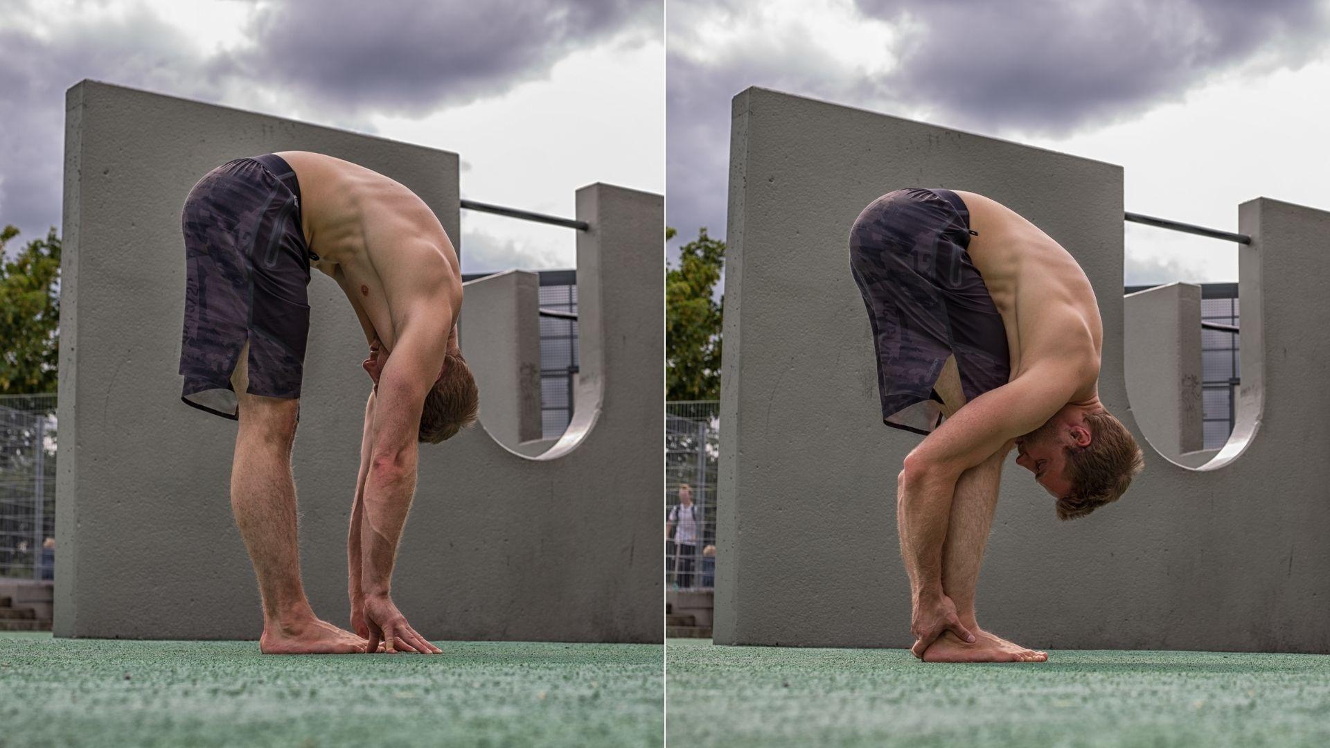 05 Kopfstand Übung - Hamstring Stretch