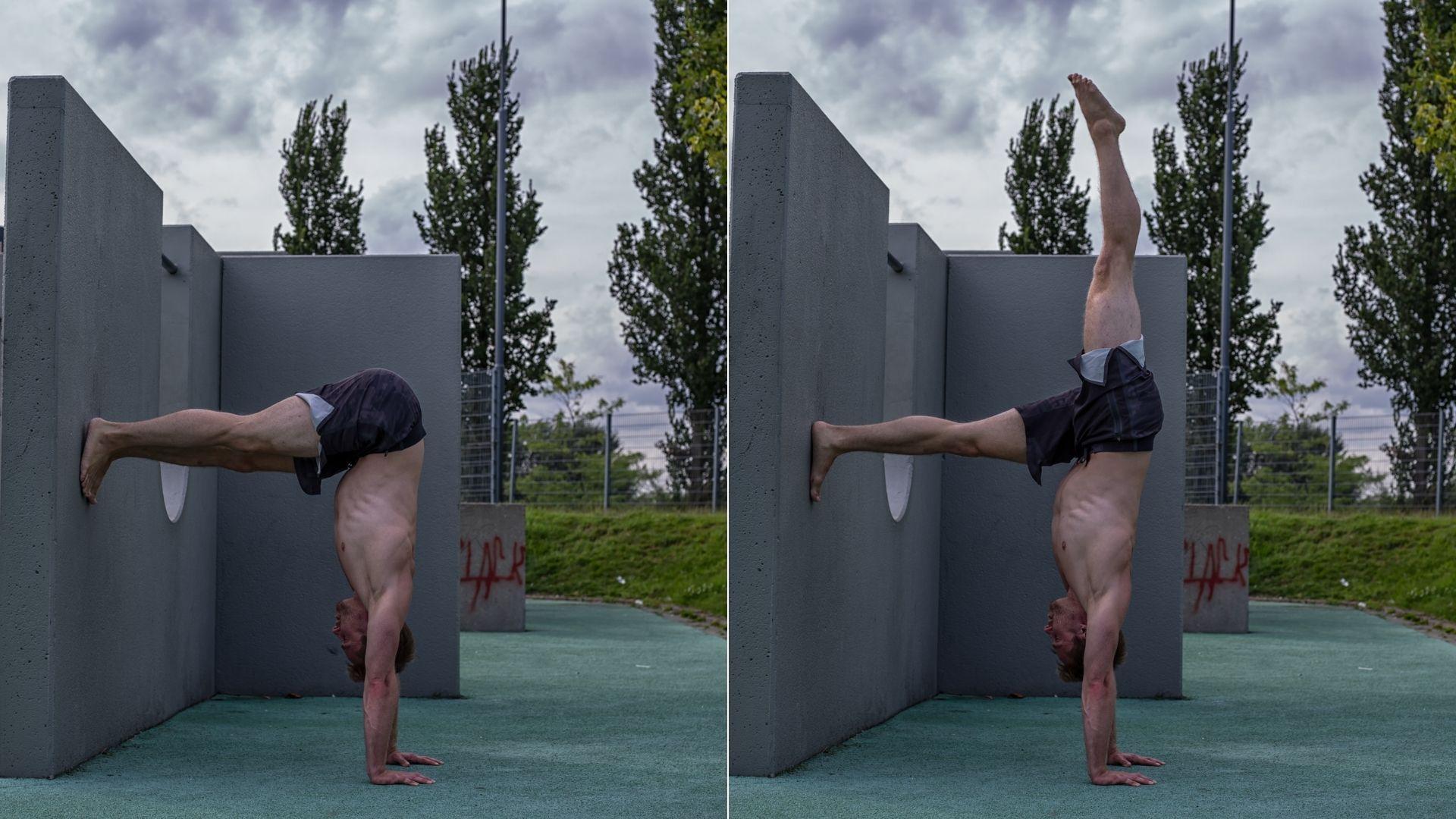 07 Handstand üben an der Wand