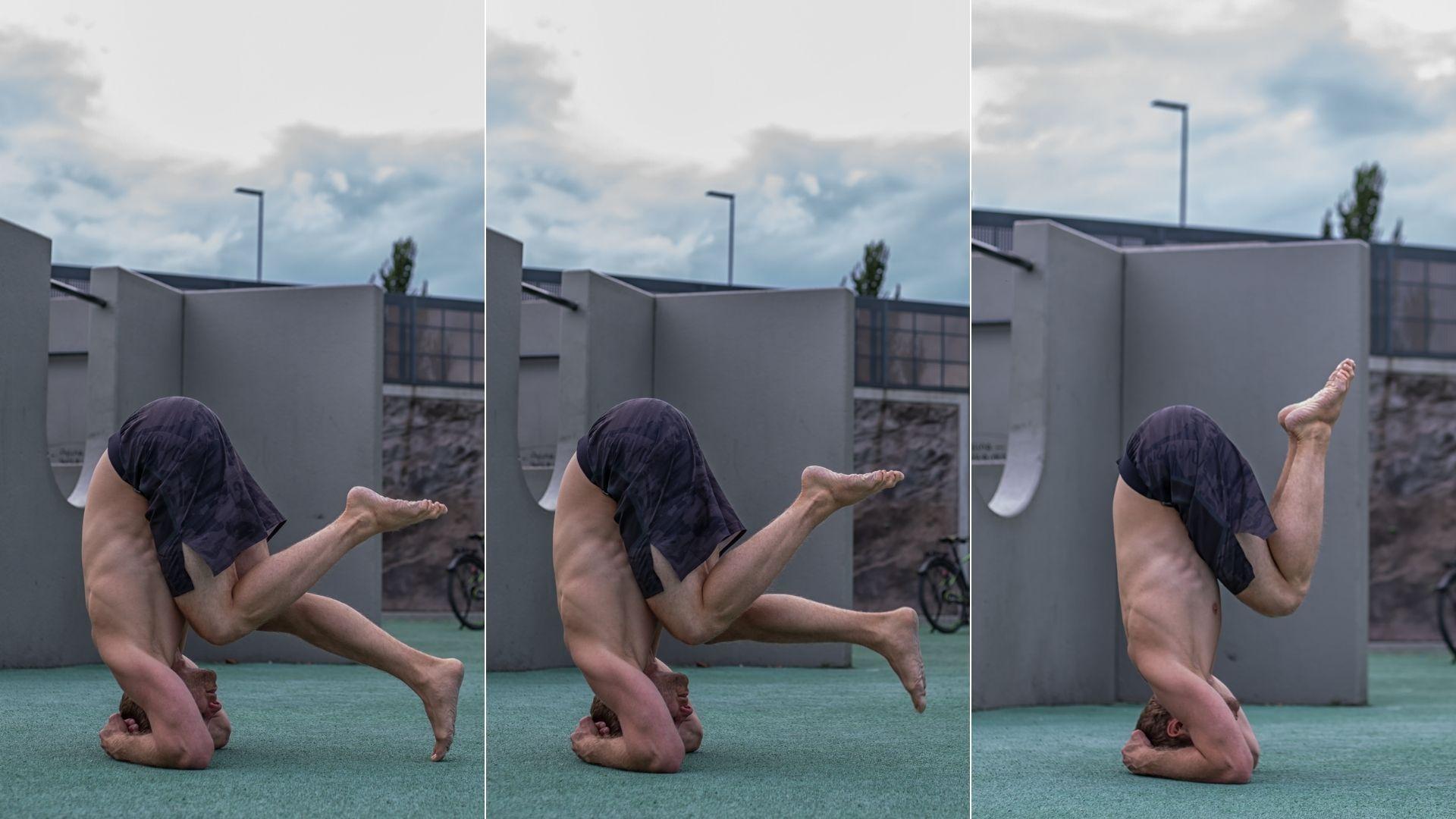 10 Yoga Kopfstand Päckchen Position