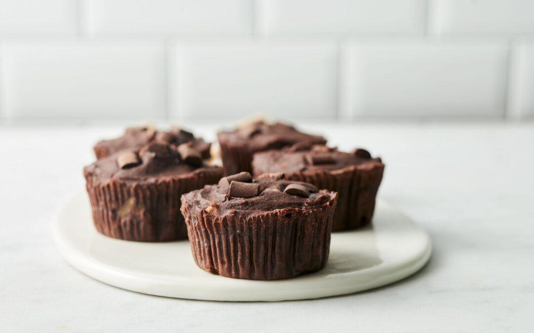 Vegane Schokomuffins ohne Zucker
